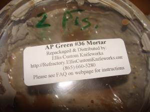 AP Green #36 Cermic Mortar