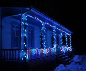 Christmas Lights on Porch 12-14-2009